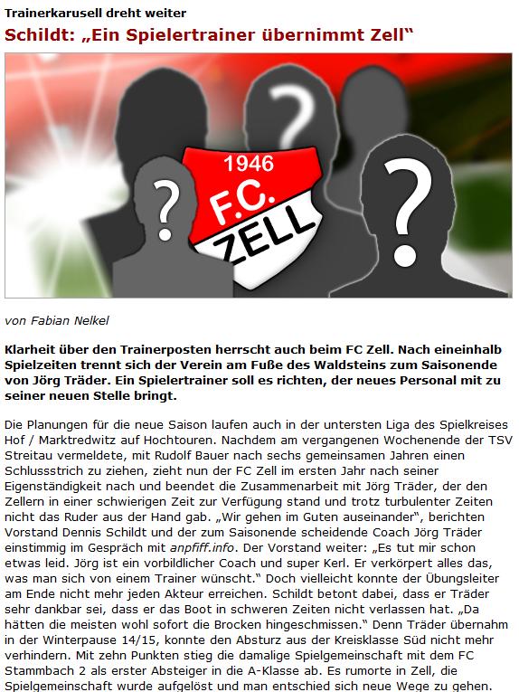 """2016-04-23 13_56_14-Trainerkarusell dreht weiter_ Schildt_ """"Ein Spielertrainer übernimmt Zell"""" - www"""